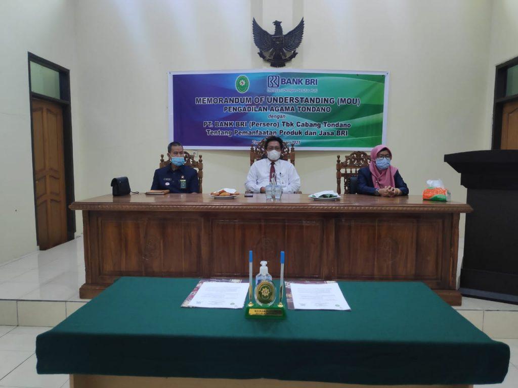 Memorandum Of Understanding Mou Pengadilan Agama Tondano Dengan Pt Bank Bri Cab Tondano Pengadilan Agama Tondano